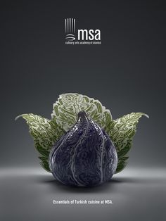 MSA Culinary Arts Academy of Istanbul: Fig Essentials of Turkish cuisine at MSA. Creative Advertising, Advertising Design, Advertising Campaign, Guerrilla Advertising, Advertising Ideas, Advertisement Examples, Ad Of The World, Vegetable Carving, Best Ads
