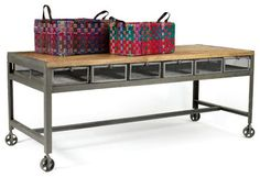 Metropolitan Table - industrial - kitchen islands and kitchen carts - Indeed Decor
