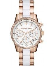 Ladies Michael Kors Ladies Ritz Rose and White Chronograph Watch 159.00 Watches2U