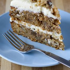 Delicious gluten free carrot cake with mascarpone icing