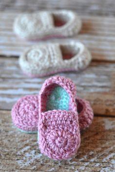 Crochet Baby Loafer Booties