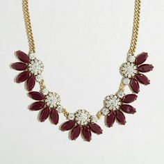 J. Crew Divided Flower Necklace, maroon New with tags, excellent condition. The color looks black in picture but is actually a pretty burgundy color. Comes with white dust bag. J. Crew Jewelry Necklaces
