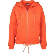 Urban Classics Ladies - Kimono Zip Hoody Rust Orange