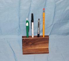 Pencil or Pen Holder, Handmade, Walnut, C127 by woodhut on Etsy