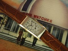1939 Long Art Deco Elgin Dual Dial Doctor's Vintage Watch #Elgin #Dress