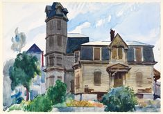 Edward Hopper (1882-1967) Victorian House 1923-24 Watercolor and graphite pencil on paperSheet: 13 15/16 × 19 15/16 in. (35.4 × 50.6 cm)