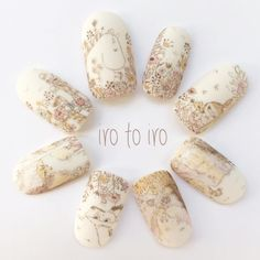 Mani Pedi, Manicure, Nail Art Techniques, Japanese Nail Art, Moomin, Love Nails, Nails Inspiration, Glitter Nails, Nail Designs