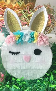 Easter Bunny, also called the Easter Rabbit or Easter Hare, is a folkloric figure and symbol of Easter, representing a rabbit bringing Easter Eggs. Easter Birthday Party, Bunny Birthday, First Birthday Parties, First Birthdays, Baby Shower, Easter Games, Bunny Party, Easter Celebration, Diy Party
