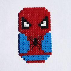 Perler Bead Chibi Bean Spiderman Magnet  by LunasRealm