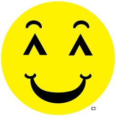 Final smiley that will go into How to be Happy cover art.