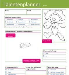 Download talentenplanner. Leerlingenformulier en korte gebruiksaanwijzing. Bron: CEGO Leuven - basisschool Dol-fijn Rillaar