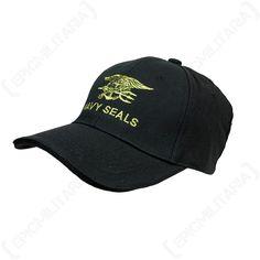 4f070f0c4df Black Navy Seals Baseball Cap - Us American Military Peak Sun Hat Military