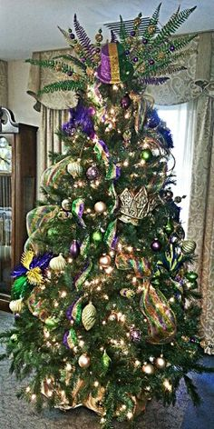 Decorating your house for Mardi Gras & Wow! So fabulous! Crazy that there are people who do this right ...