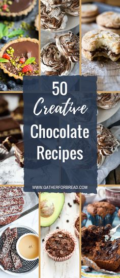 50 Creative Chocolate Recipes - Round up of delicious chocolate recipes. From healthy treats to sweet desserts. Give something new a try.