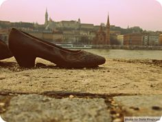 Shoes on the Danube promenade Budapest