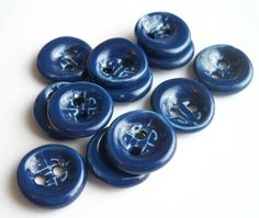 Blue Ceramic Buttons by buttonalia on Etsy, $24.00