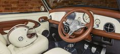 David Brown Mini Remastered Inspired by Café Racers Special Edition by 25 Interior Mini Cooper Classic, Mini Cooper S, Mini Cooper Custom, Classic Mini, Classic Cars, Mini Cooper Interior, Mini Morris, Minis, Car Interior Upholstery