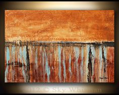 I wish I could paint. Large Textured Original Modern Art  by originalmodernart on Etsy, $375.00