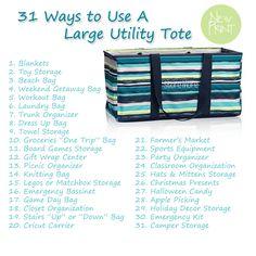 31 Ways to Use a Thirty-One Large Utility Tote https://www.mythirtyone.com/mackenziefield
