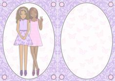 Best Friends Ethnic A5 Insert Lilac and Pink on Craftsuprint - View Now!