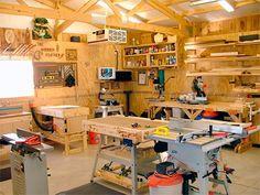 Woodworking Shop Layout, Woodworking Hand Tools, Woodworking Workshop, Woodworking Bench, Woodworking Crafts, Ana White, Garage Workshop Plans, Workshop Ideas, Workshop Layout