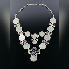 Vintage Turkmen coin necklace. #necklace #vintagenecklace #tribalfusioncostuming #tribalfusionbellydance #tribalnecklace #vintagejewelry #oldjewelry #coinnecklace #etsy #etsyshop #etsyseller