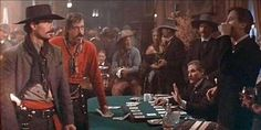 Saloon scene with the Cowboys. Powers Booth, Michael Biehn, The Earp Brothers Tombstone 1993, Tombstone Movie, Tombstone Tattoo, Bill Paxton Movies, The Middle Cast, Powers Boothe, Stephen Lang, Im Your Huckleberry, Billy Zane