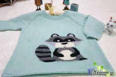 Children's pullover with raccoon spokes Free Pattern, Knit Crochet, Pullover, Knitting, Knits, Crocheting, Fashion, Crochet, Moda