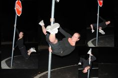 Street pole dance