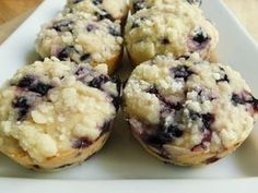 Weight watcher recipes, Blueberry lemon crumble muffins by drizzle me skinny -3 SmartPoints per regular size muffin
