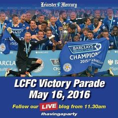 #Repost @leicestermercury  Follow our live blog from 11.30am! #LCFC #havingaparty