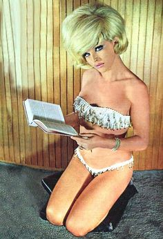 She always reads like this... 60s