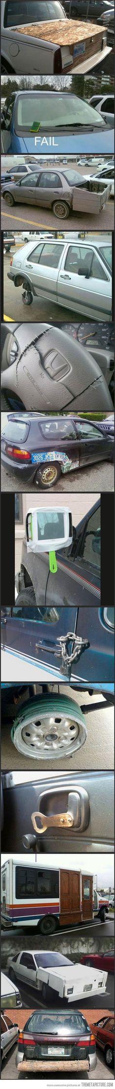 Redneck car repair.: