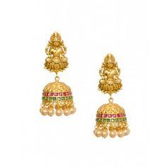 Goddess Lakshmi Jhumka Earrings