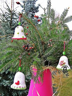 19.Merry_Christmas crochet bell ~ free pattern