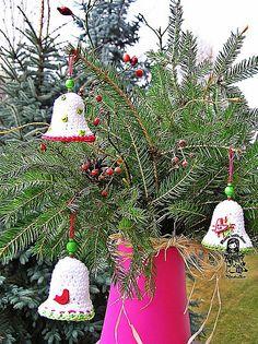 Christmas time - bell pattern by Vendula Maderska ~ free pattern.  FREE PDF 6/14.