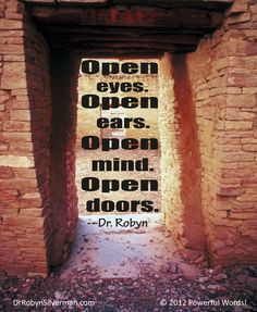 Open your mind! #DrRobyn