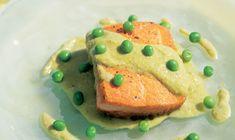 Salmon in Luxurious Green Sesame Pipián (minus the peas)