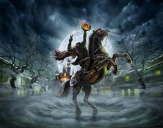 "Get ready to ""lose your head"" at Hong Kong Disneyland's Haunted Halloween as the intriguing Headless Horseman reported to be haunting th. Disneyland Halloween, Halloween Horror, Scary Halloween, Vintage Halloween, Fall Halloween, Happy Halloween, Halloween Stuff, Modern Halloween, Halloween Trees"
