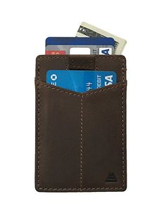 Minimalist The Finn Ultra Slim Leather Elastic Front Pocket Wallet Andar