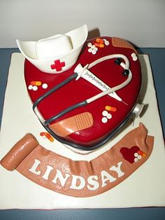 Teresa's Tasty Temptations: Lindsay's Nurse Graduation cake