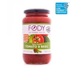FODY Tomato and Basil Pasta Sauce