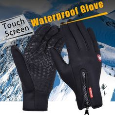 Winter Bicycle Gloves Windproof Thermal Bike Gloves Motorcycle,tactical,ski,cycling Sports Touch Screen Glove Men Woman Skiing Gloves