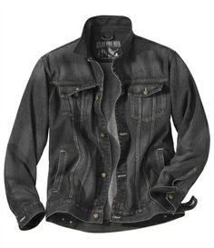 Blouson Denim Black Used #atlasformen #avis #discount #livraison #commande #printemps #spring #blouson #jacket