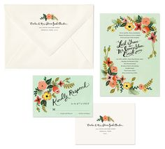 wedding invite suite by Rifle Paper