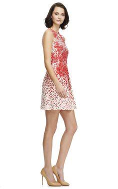 Printed Silk-Shantung Pleat-Front Dress by Giambattista Valli Now Available on Moda Operandi