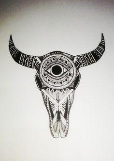 Bull! #skull #bull #mandala