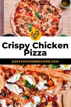 Make homemade pizza recipe for your next family pizza night! Loaded with flavor, this crispy chicken pizza takes just 15 minutes to prep. #pizza #chickenpizza #pizzanight #familymeal Kid Friendly Chicken Recipes, Chicken Pizza Recipes, Italian Chicken Recipes, Kid Friendly Meals, Making Homemade Pizza, Chicken And Waffles, Crispy Chicken, Easy Weeknight Meals, Family Meals