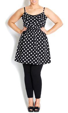 City Chic - SPOT FOLD FRONT TUNIC - Women's plus size fashion