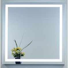Innoci-USA Electric LED Mirror with Steel Back Frame